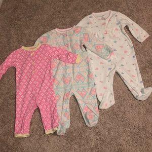 Lot of 3 Carter's Baby Girl onesies